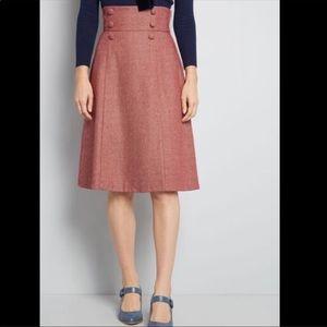 ModCloth Timeless Elements High Waisted Midi Skirt